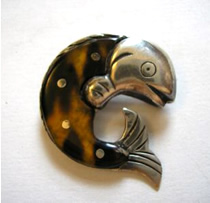 Spratling Fish Brooch - Jewelry appraisals by Carole C. Richbourg